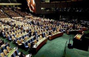 'BM'de miting konuşması'