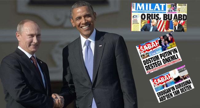 'O Rus Bu ABD'den' Obama ve Putin'e güzellemeye...