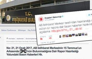 AB İstihbarat Merkezi'nin '15 Temmuz Cemaat İşi Değil' diyen raporu sızdı, Türk Dışişleri tutuştu!