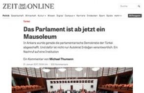 Alman Basını: Ankara'daki eşsiz parlamento artık sadece mozole!