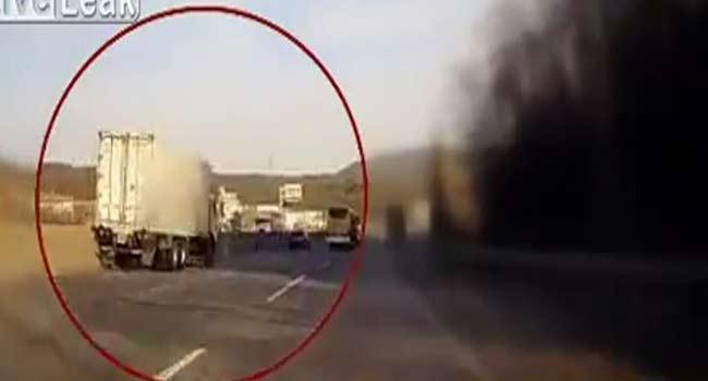 Bir kamyon sürücüsünün zor anları