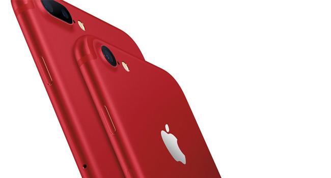 Kırmızı renkli iPhone 7 ve 7 Plus piyasaya çıktı