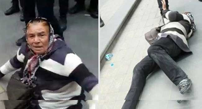 Oğlu KHK ile ihraç olan kadını yerlerde sürükleyip gözaltına aldılar