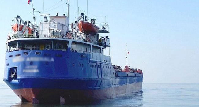 Patlayıcı yüklü gemi incelemeye alındı