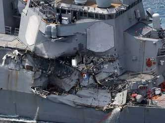 ABD'yi sarsan gemi kazası.. Hayatını kaybeden askerler var