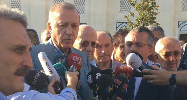 Erdoğan bayram namazı önce rahatsızlandı