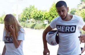 'Hero' tişörtü giyen sevgililere gözaltı