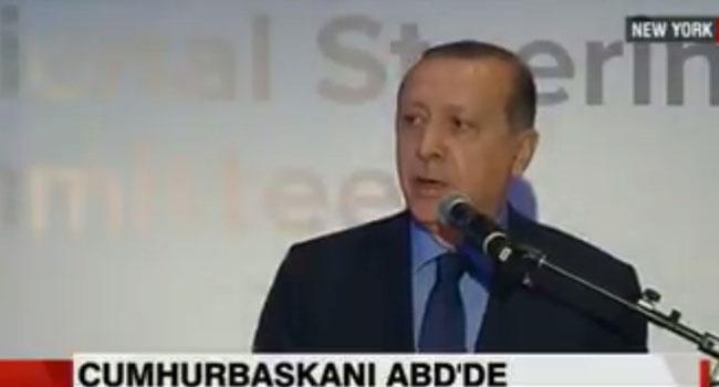 Erdoğan'ın ABD'deki protesto sırasında yaşadığı şok kameralara yansıdı