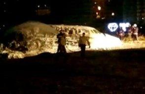 FLAŞ... Atatürk Havalimanı'na jet düştü, yangın çıktı