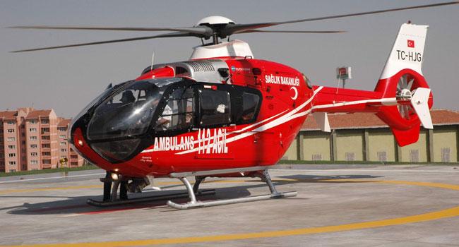 Sağlıkta devrim: Ambulans helikoptere haciz!