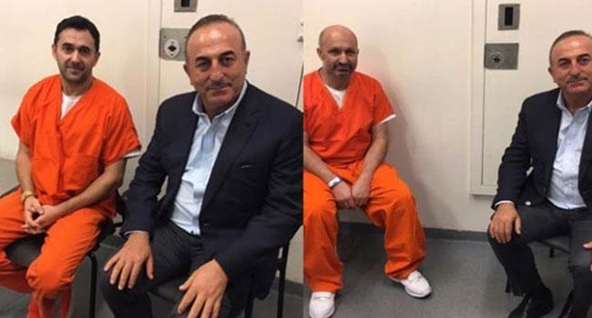 Çavuşoğlu'ndan ABD'de cezaevi ziyareti