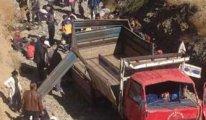 Hakkari'de kamyon kazası: 65 yaralı