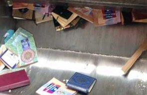Bu saygısızlığı yapan müftülük... Kur'an-ı Kerim'i çöp arabasına atıp çiğnediler