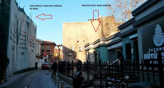 15 Temmuz sonrası gasp ettikleri Halit Paşa Konağı'nı AKP'li vakfa verdiler!