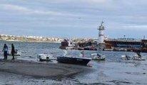 Halk endişeye kapıldı .. Marmara Denizi 15 metre birden çekildi
