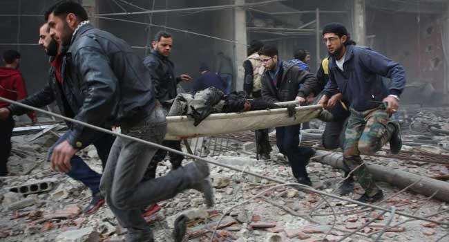 BM: Doğu Guta'da 400 bin sivil yeryüzünde cehennemi yaşıyor