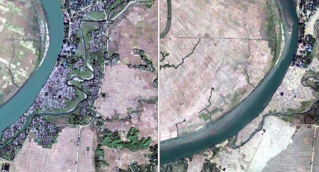 Katliam uydu fotoğraflarıyla ortaya çıktı