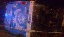 Antalya'da asker otobüsü devrildi: 23 yaralı
