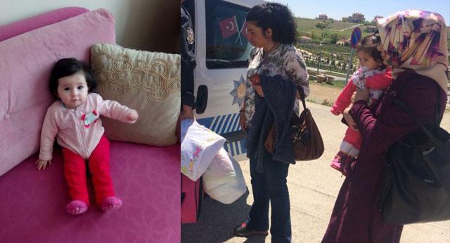 11 aylık Melike bebek annesiyle cezaevine konuldu