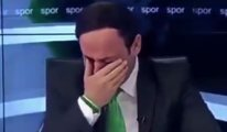 Konyalı spiker takım ligde kalınca gözyaşlarına boğuldu