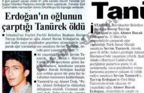 Erdoğan'ın oğlu çarpıp öldürdüğü Tanürek'le ilgili haberleri de engelletti