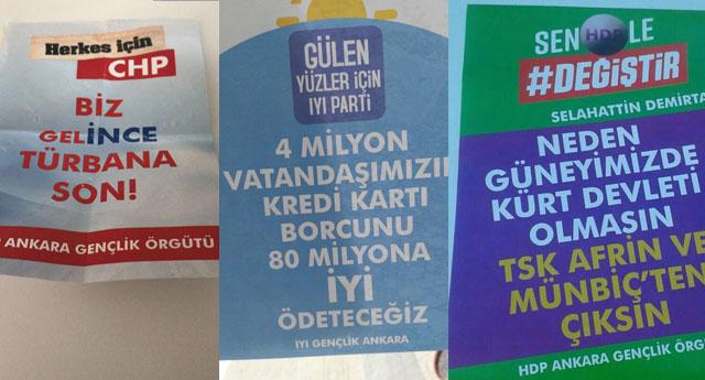 Ankara'da sahte broşür dağıttılar