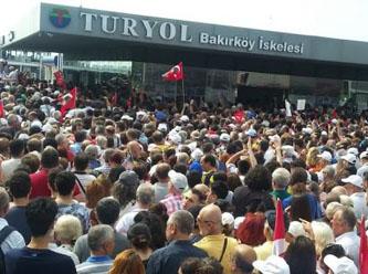 AKP mitingine ek sefer koyan İDO İnce'nin mitingine gidenleri iskelede bıraktı
