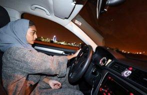 Suudi kadınlar ilk kez trafikte