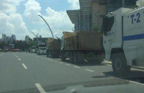 Saray ve YSK çevresine otobüslü, kamyonlu önlem