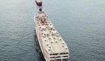 Hastalık şüphesi taşıyan gemi İzmir'e alınmamıştı Şimdi İskenderun'a boşaltılıyor