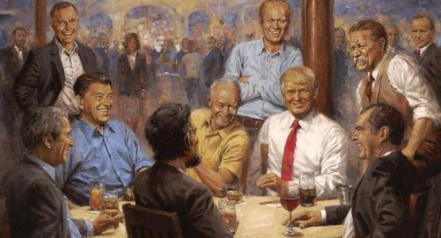 Trump, Beyaz Saray'da 'eski başkanlar' tablosunda
