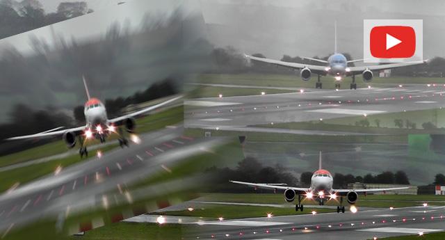 Bu görüntüler İngiltere'deki Bristol Havaalanı'ndan