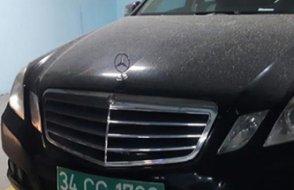 Konsolosluğun sır otomobili bulundu... Plakasız araç çekildi