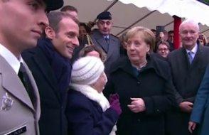 Yaşlı kadın Merkel'i tanımayınca...