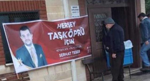 AKP'li aday adayından camide seçim propagandası