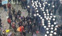 Taksim'de toplanan kadınlara biber gazlı müdahale