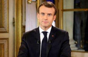 Macron: Derin ve haklı bir öfke var, ekonomik ve sosyal olağanüstü hal ilan edeceğim