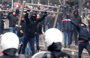 Aşırı sağcı gruplar Brüksel'i savaş alanına çevirdi