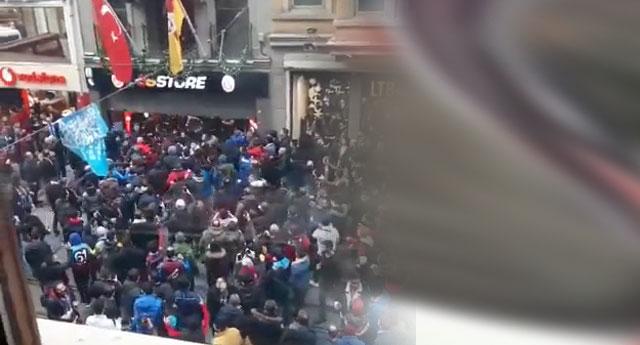 İstiklal Caddesi'nde hareketli dakikalar