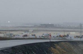 Üçüncü havaalanı şantiyesi sular altında