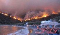 Komşu da yangın çıktı : Yunanistan'da 58 noktada orman yangını var