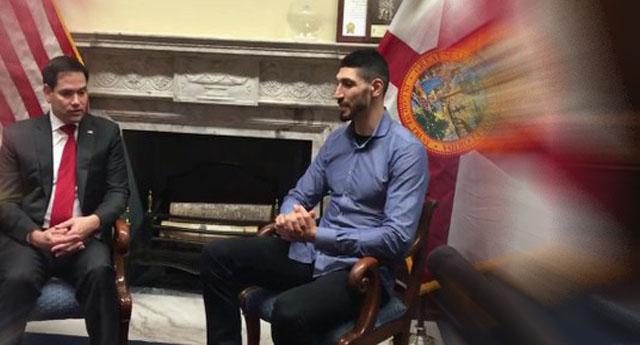 ABD'li Senatör Rubio  Enes Kanter ile görüştü