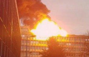 Üniversitenin kütüphanesinde patlama 3 Kişi yaralandı