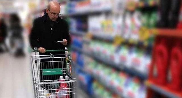Süpermarkette görüntülendi