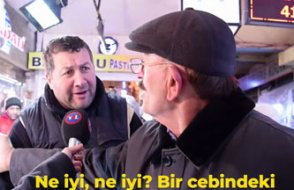 AKP'li vatandaş 'füze yapılıyor' deyince esnaf araya girdi: Amca cebinde kaç para var?