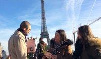 Eyfel Kulesi önünde Sevgililer Günü'nde Türkiye'deki haksızlıkları anlattılar
