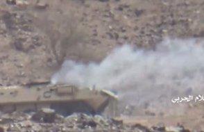 Suudi zırhlı aracını imha edip kayda aldılar
