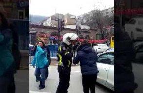 Erdoğan gelecek diye yolu kapattılar! Ambulansa yolda kaldı