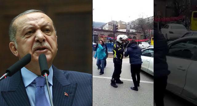 Polis izin vermedi Vatandaş isyan etti