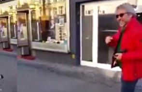Almanya'da Can Dündar'ı sözlü taciz etti, bir de kameraya kaydetti